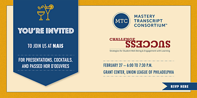An Evening with MTC and Challenge Success at NAIS