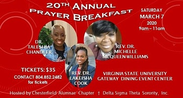 Chesterfield Alumnae Chapter of Delta Sigma Theta Sorority, Incorporated 20th Annual Prayer Breakfast