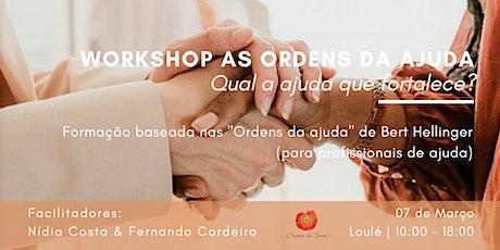 Workshop As Ordens da Ajuda - Constelações Familiares bilhetes