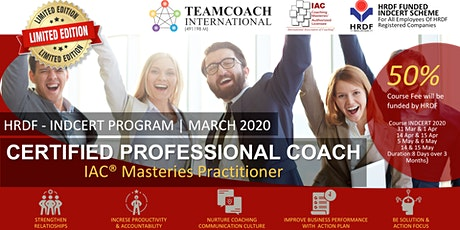 Certified Professional Coach - IAC (HRDF INDCERT PROGRAM) tickets