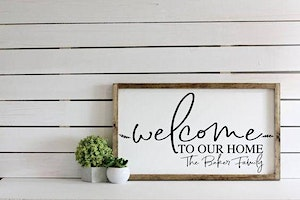 DIY Wooden Welcome Sign Workshop