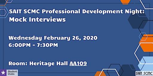 SAIT SCMC Professional Development Night 2020: Mock Interviews