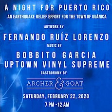 A Night for Puerto Rico:An Earthquake Relief Effort for the Town of Guánica tickets