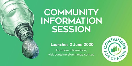 Victoria Park Containers for Change Information Session tickets