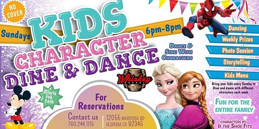 Kids Character Dine and Dance