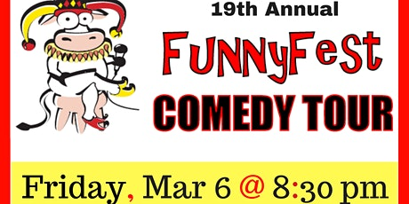FRIDAY, MARCH 6 @ 830 pm - FunnyFest Comedy Tour @ Sasquatch Inn, Harrison Mills, BC tickets