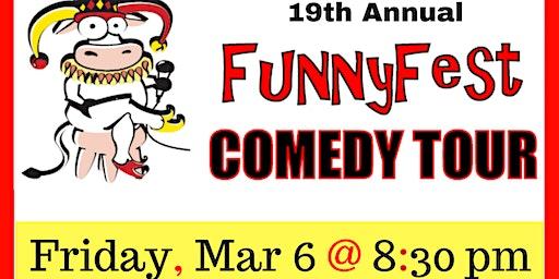 FRIDAY, MARCH 6 @ 830 pm - FunnyFest Comedy Tour @ Sasquatch Inn, Harrison Mills, BC