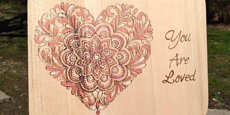 Wood Burning Workshop - Mandala Heart at Crafts and Drafts tickets