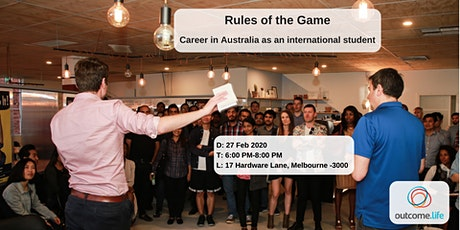 Rules of the Game: Career in Australia as an international student tickets