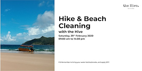 [Postponed to Mar 14] Hike & Beach Cleaning with the Hive tickets