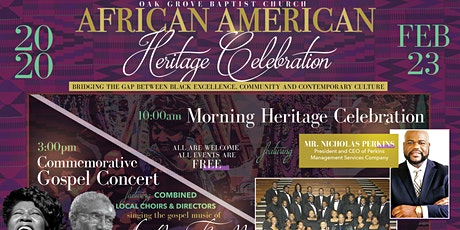 Oak Grove Baptist Church to Host African American Heritage Sunday Celebrati tickets