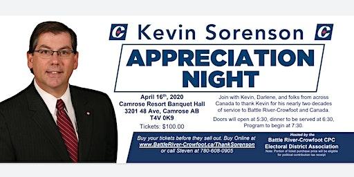 Kevin Sorenson Appreciation Night