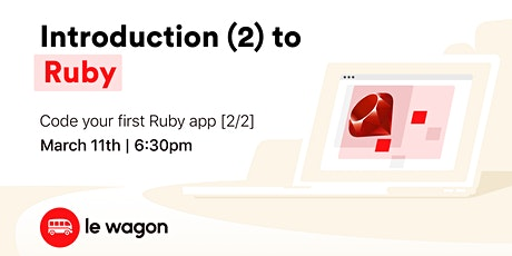 Introduction (part.2) to Ruby ⚡ tickets