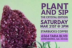Plant And Sip: The Crystal Edition