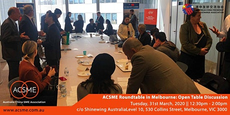 ACSME Roundtable in Melbourne: Open Table Discussion tickets