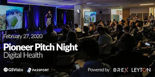 GSVlabs Pioneer Pitch Night - Digital Health Edition