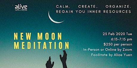 New Moon Meditation   新月。許願。呈現 tickets
