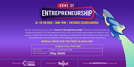 The Game of Entrepreneurship Bootcamp tickets