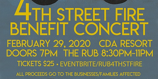 The Rub - 4th Street Fire Benefit Concert