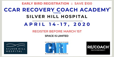 EARLY BIRD - CCAR RECOVERY COACH ACADEMY™ hosted by SILVER HILL tickets