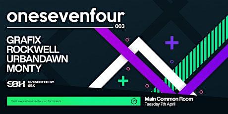 SBK presents onesevenfour 003 / Dunedin tickets