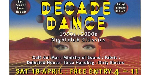 Decade Dance: 90s - 2000s Nightclub Classics at Radio Bar!