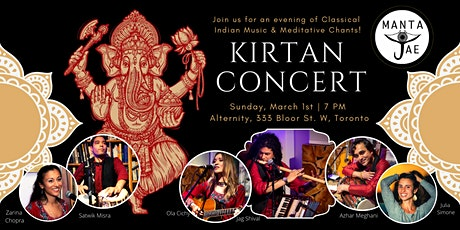 Manta Jae - Kirtan & Indian Classical Music Concert tickets