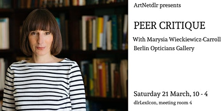 PEER CRITIQUE with Marysia Wieckiewicz-Carroll tickets