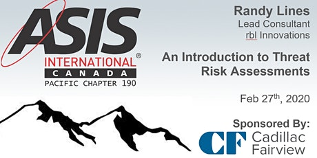 An Introduction to Threat Risk Assessments with Randy Lines tickets