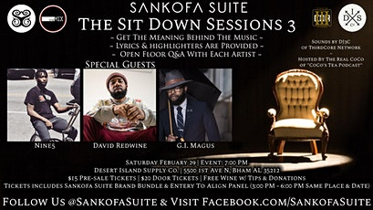 The Sit Down Sessions 3 tickets