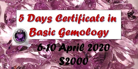 Certificate in Basic Gemology tickets