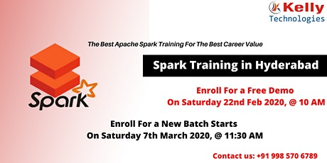 Attend Free Spark Demo On 22nd Feb, 10 AM & New Weekend Batch On 7th March, tickets