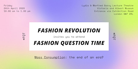 Fashion Question Time at the V&A tickets