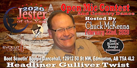 2020 Jester of the Year Comedy - Gulliver Twist and hosted by Chuck McKenna tickets