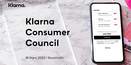 Klarna Consumer Council (SE) tickets