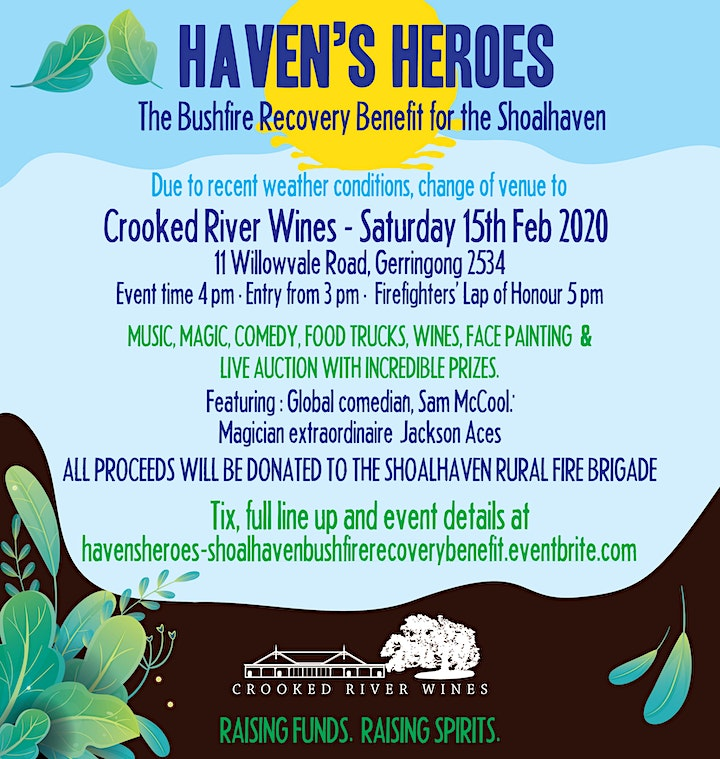 Haven's Heroes Bushfire Recovery Benefit for the Shoalhaven image