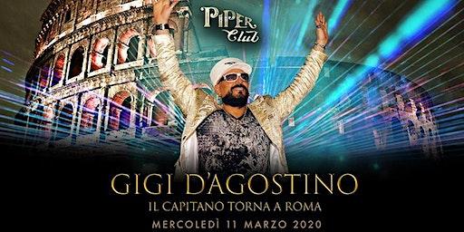 Piper Club - Gigi D'Agostino - Mercoledi 11 Marzo 2020