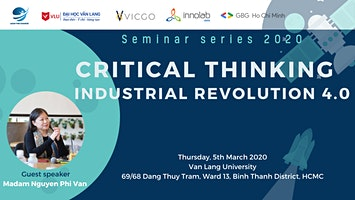 Seminar series: Critical Thinking in Industrial Revolution 4.0