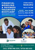 Financial Modeling & Business Valuation Boot-camp