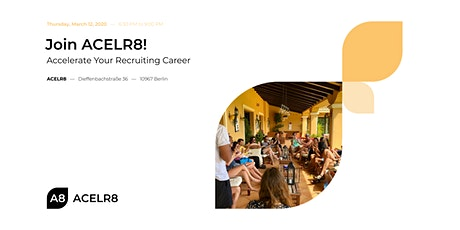 Join ACELR8: Accelerate Your Recruiting Career Tickets