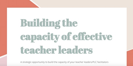 Teacher Leader Program - Gavin Grift tickets