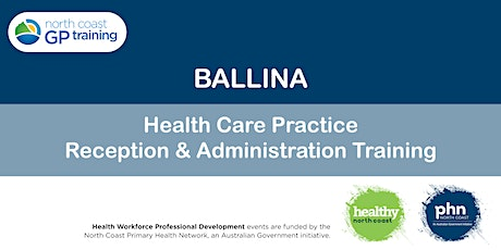 Ballina: Health Care Practice Reception & Administration Training tickets