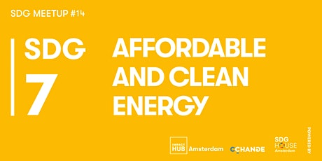 SDG Meetup #14 | SDG 7: Affordable and Clean Energy tickets