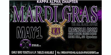 Omegas All Black Mardi Gras Party tickets