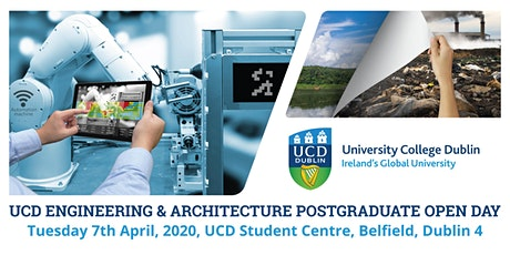 UCD Engineering & Architecture Taught Graduate Open Evening 2020 tickets