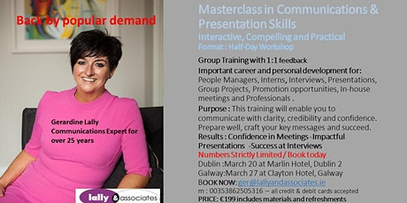 Masterclass in Communications & Presentation Skills tickets