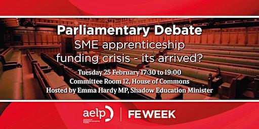 Parliamentary debate | SME apprenticeship funding crisis - it's arrived?