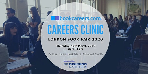 bookcareers.com Careers Clinic at the London Book Fair 2020 supported by The Publishers Association