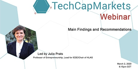 TechCapMarkets: Main Findings and Recommendations tickets