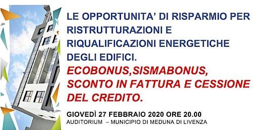 RISPARMIO PER RISTRUTTURAZIONI E RIQUALIFICAZIONI ENERGETICHE DEGLI EDIFICI